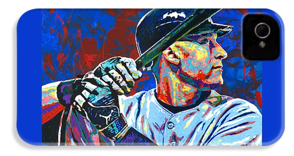 Derek Jeter IPhone 4s Case by Maria Arango