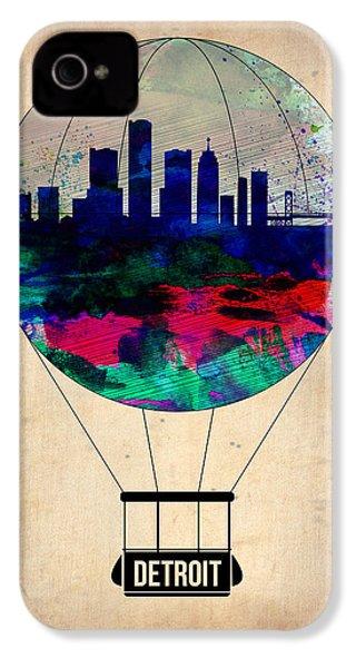 Detroit Air Balloon IPhone 4s Case by Naxart Studio