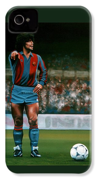 Diego Maradona IPhone 4s Case by Paul Meijering