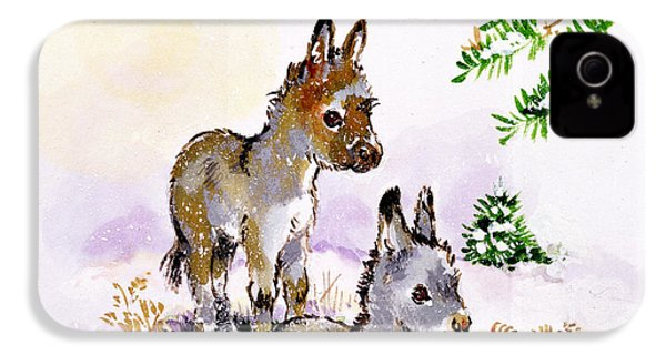 Donkeys IPhone 4s Case by Diane Matthes