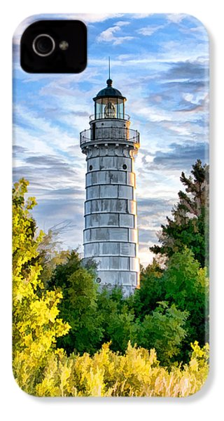 Door County Cana Island Beacon IPhone 4s Case by Christopher Arndt