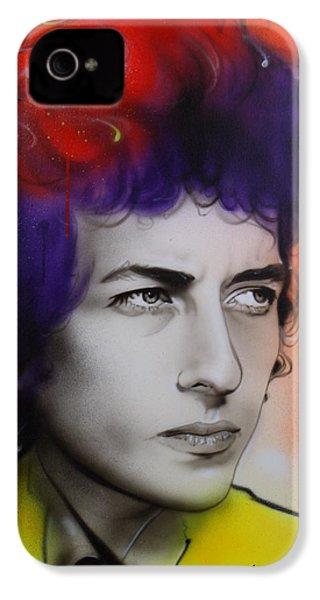 Bob Dylan - ' Dylan ' IPhone 4s Case by Christian Chapman Art