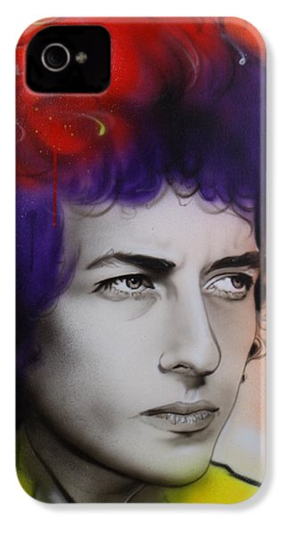Bob Dylan - ' Dylan ' IPhone 4s Case by Christian Chapman Art
