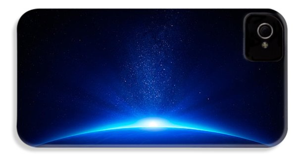 Earth Sunrise In Space IPhone 4s Case by Johan Swanepoel