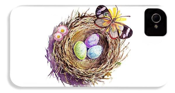 Easter Colors Bird Nest IPhone 4s Case by Irina Sztukowski