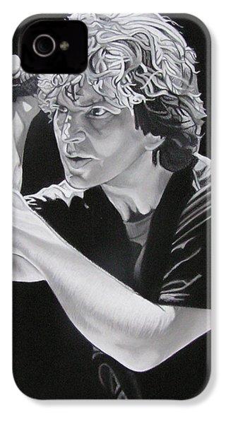 Eddie Vedder Black And White IPhone 4s Case by Joshua Morton