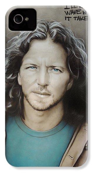 ' Eddie Vedder ' IPhone 4s Case by Christian Chapman Art