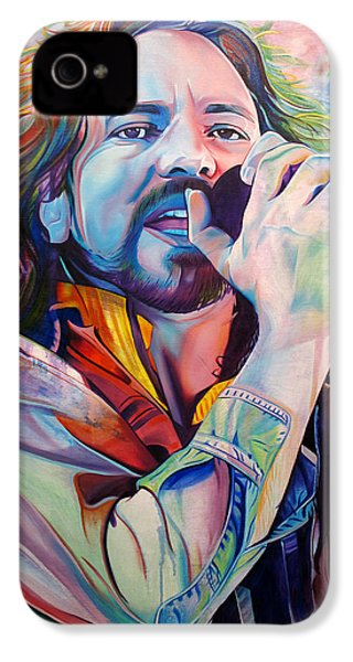 Eddie Vedder In Pink And Blue IPhone 4s Case by Joshua Morton
