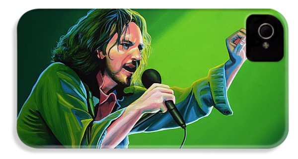 Eddie Vedder Of Pearl Jam IPhone 4s Case by Paul Meijering