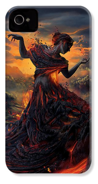 Elements - Fire IPhone 4s Case by Cassiopeia Art
