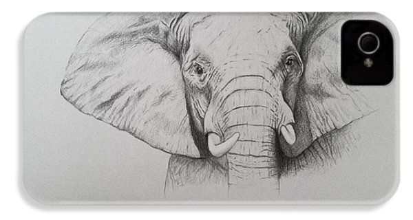 Elephant IPhone 4s Case by Ele Grafton
