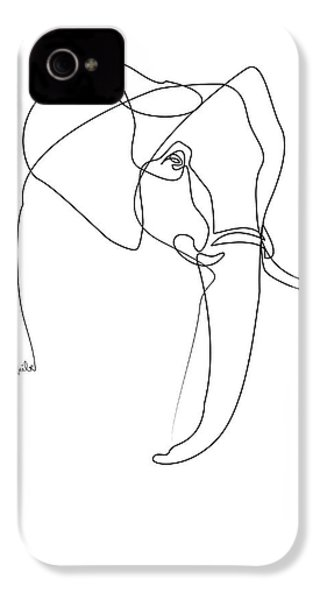 Elephant Line IPhone 4s Case by Quibe