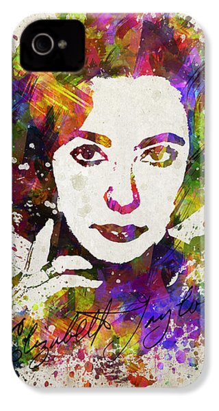 Elizabeth Taylor In Color IPhone 4s Case by Aged Pixel