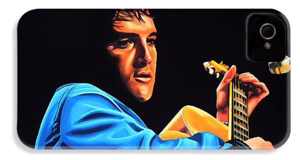 Elvis Presley 2 Painting IPhone 4s Case by Paul Meijering