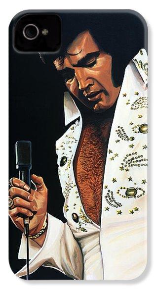 Elvis Presley Painting IPhone 4s Case by Paul Meijering