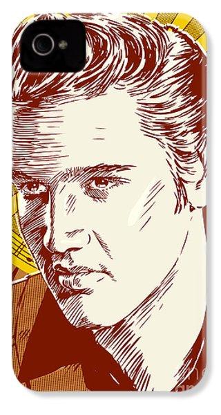 Elvis Presley Pop Art IPhone 4s Case by Jim Zahniser