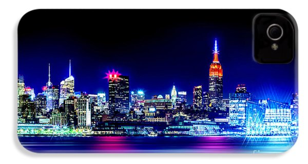 Empire State At Night IPhone 4s Case by Az Jackson