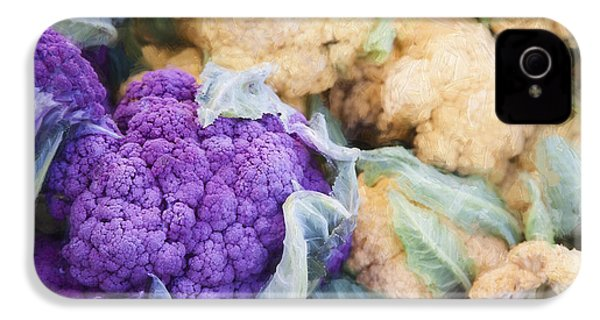 Farmers Market Purple Cauliflower IPhone 4s Case by Carol Leigh