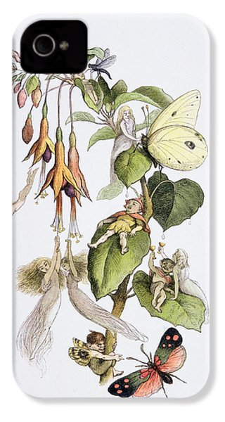 Feasting And Fun Among The Fuschias IPhone 4s Case by Richard Doyle