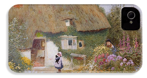 Feeding The Pigeons IPhone 4s Case by Arthur Claude Strachan