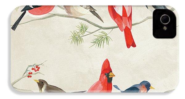 Festive Birds I IPhone 4s Case by Danhui Nai