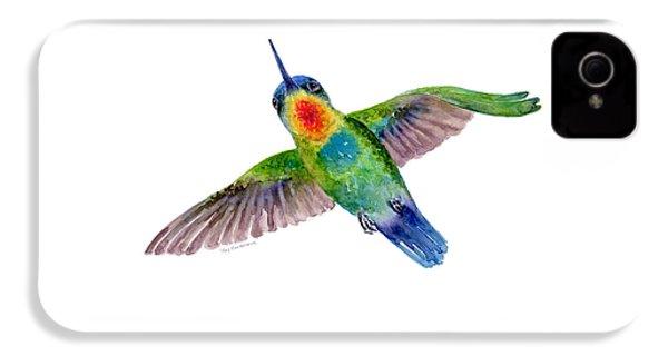 Fiery-throated Hummingbird IPhone 4s Case by Amy Kirkpatrick