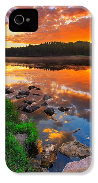 Fire On Water IPhone 4s Case by Kadek Susanto
