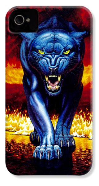 Fire Panther IPhone 4s Case by MGL Studio - Chris Hiett