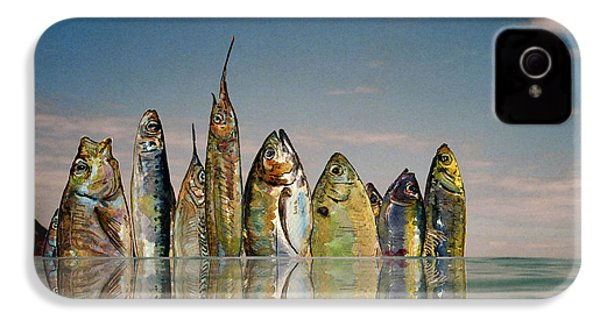Fishhattan IPhone 4s Case by Juan  Bosco