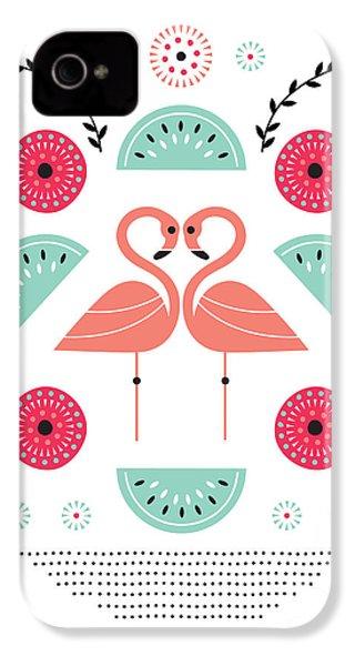 Flamingo Flutter IPhone 4s Case by Susan Claire