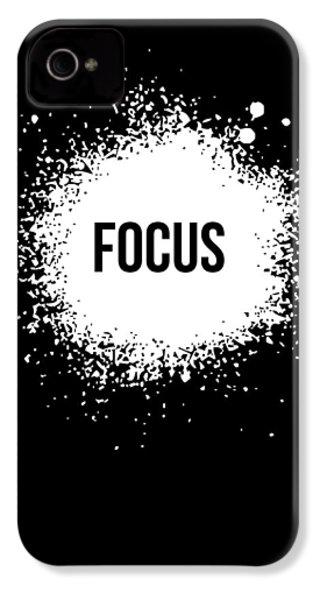 Focus Poster Black IPhone 4s Case by Naxart Studio