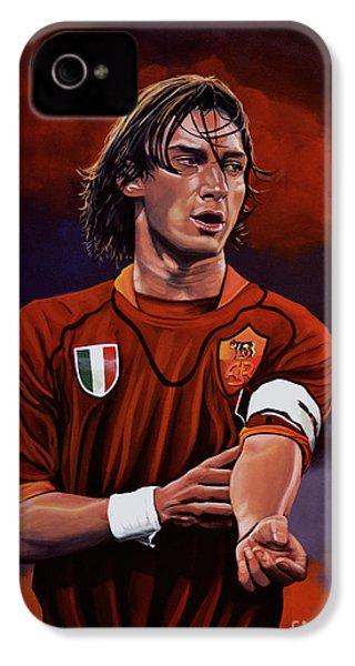 Francesco Totti IPhone 4s Case by Paul Meijering