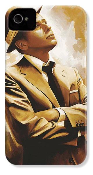 Frank Sinatra Artwork 1 IPhone 4s Case by Sheraz A
