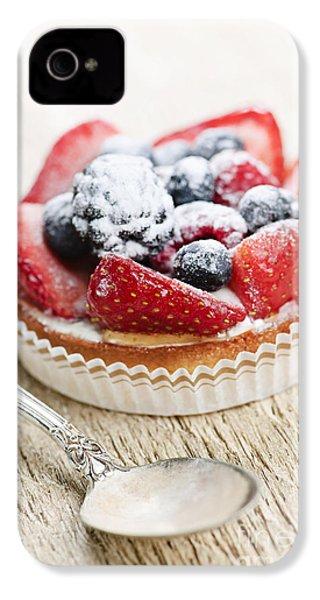 Fruit Tart With Spoon IPhone 4s Case by Elena Elisseeva