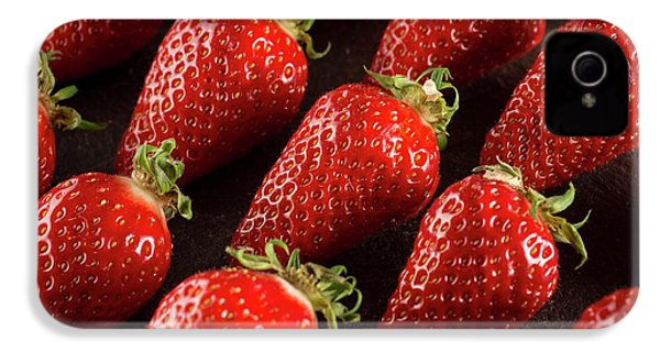 Gariguette Strawberries IPhone 4s Case by Aberration Films Ltd