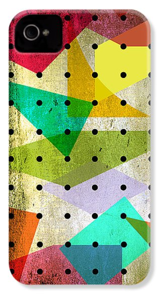 Geometric In Colors  IPhone 4s Case by Mark Ashkenazi