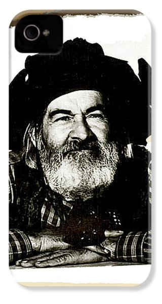 George Hayes Portrait #1 Card IPhone 4s Case by David Lee Guss