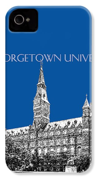 Georgetown University - Royal Blue IPhone 4s Case by DB Artist