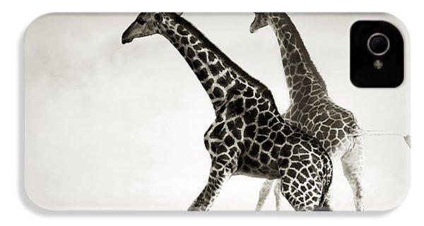 Giraffes Fleeing IPhone 4s Case by Johan Swanepoel