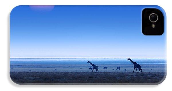Giraffes On Salt Pans Of Etosha IPhone 4s Case by Johan Swanepoel
