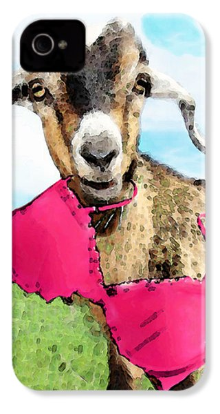 Goat Art - Oh You're Home IPhone 4s Case by Sharon Cummings