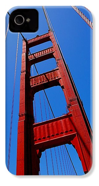Golden Gate Tower IPhone 4s Case by Rona Black