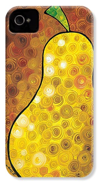 Golden Pear IPhone 4s Case by Sharon Cummings