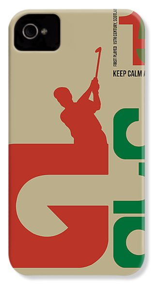Golf Poster IPhone 4s Case by Naxart Studio