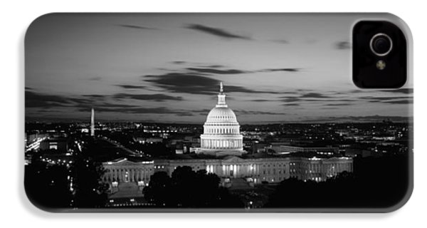 Government Building Lit Up At Night, Us IPhone 4s Case by Panoramic Images