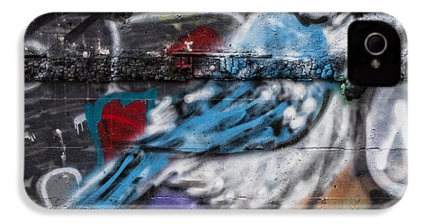 Graffiti Bluejay IPhone 4s Case by Carol Leigh