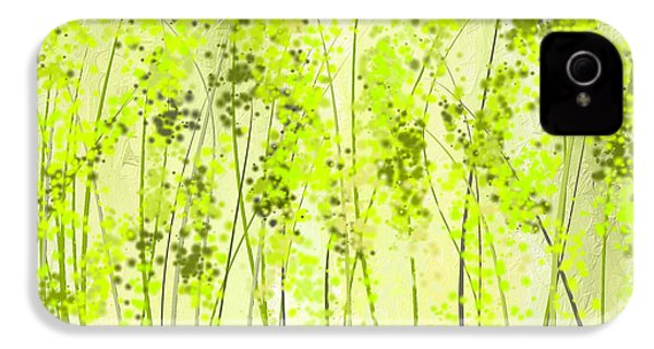 Green Abstract Art IPhone 4s Case by Lourry Legarde