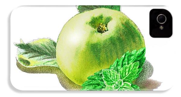 Green Apple And Mint Happy Union IPhone 4s Case by Irina Sztukowski