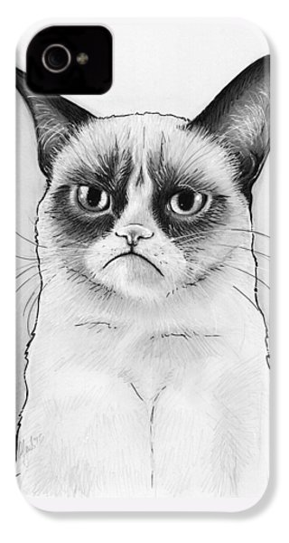 Grumpy Cat Portrait IPhone 4s Case by Olga Shvartsur