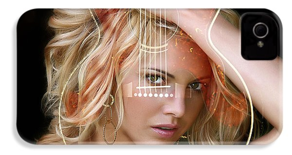 Guitar Goddess IPhone 4s Case by Marvin Blaine